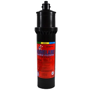 "Homeland H1KP10 1/2 micron Coconut Shell Carbon Water Filter 3.5"" x 14.5"" Replaces Everpure MH/12000. Carbon block reduces chlorine, taste and odor Service Life: 10,000 gal/6 mo Flow Rate: 2 GPM"