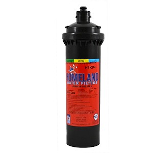 "Homeland H1KP4 1/2 micron Coconut Shell Carbon Water Filter 3.5"" x 12.7"" Replaces Everpure 4H BH 4KPLUS. Carbon block reduces chlorine, taste and odor Service Life: 4,000 gal/6 mo Flow Rate: 1.5 GPM"