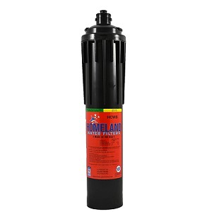 "Homeland HCWS Food Service 10 micron Coconut Shell Carbon Water Filter. Replaces Omnipure EXLCWS. Service Life: 1,700 gr/1,000 gal Flow Rate: 2 GPM Size: 3.5"" x 17.5"""
