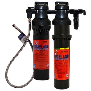 "Homeland HFK22 Dual Head Filter System with Bracket Inlet: 3/8"" Female Compression Outlet: 3/8"" FPT Capacity: 10,000 Gal/6 mo"