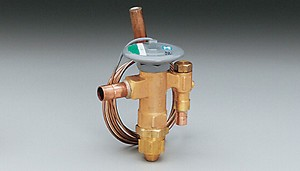 "Expansion valve, standard port, R134a family, external equalizer, 2 ton, 3/8"" ODF inlet x 1/2"" ODF outlet, C charge (medium temp)"