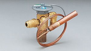 "Expansion valve, standard port, R134a family, external equalizer, 1/4 ton, 1/4"" MFL inlet x 1/2"" MFL outlet, C charge (medium temp)"