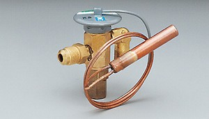 "Expansion valve, standard port, R134a family, external equalizer, 2 ton, 3/8"" MFL inlet x 1/2"" MFL outlet, Z charge (low temp)"