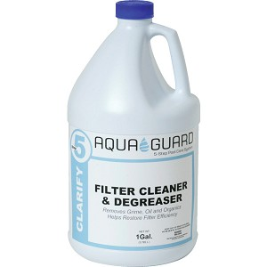 AquaGuard 1 Gallon Filter Cleaner / Degreaser- Swimming Pool Water