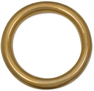"Tandy Leather Cast Ring 1-1/4"" (32 mm) Solid Brass 1179-03"