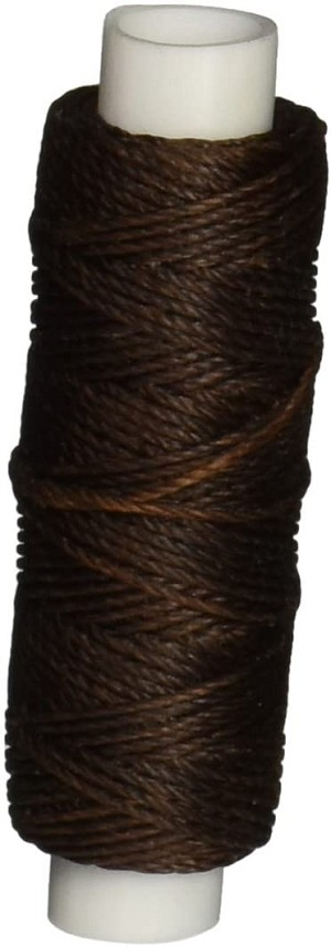 Tandy Leather Factory 1227-02 Waxed Nylon Thread, 25-Yard Spool, Brown