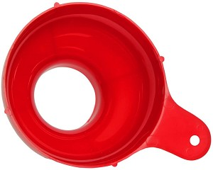 SKPYFD Home Canning Funnel, Fits Wide Mouth & Regular Mason Jars, Red