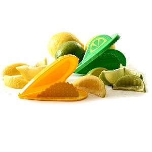 "LEMON / LIME WEDGE SQUEEZERS, 24 PC DSP 6"" x 4.25"" x .1"" Folded heart shapes"