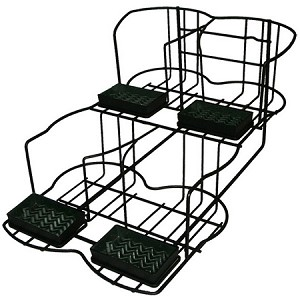 APR4 Airpot Rack. Accommodates 4 airpots and includes drip trays. Black Dimensions: 17 7/8 H x 14 7/8 W x 23 D