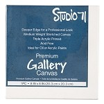 Darice 8x8 Premium Gallery Stretched Canvas: White, 1.5 inches Deep 30063766