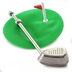 norpro S/S TEE TIME GOLF CLUB TEA INFUSER W/CUP COVER/DRIP CATCHER 6