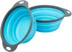 SKPYFD Colander Set - 2 Collapsible Colanders (Strainers) - Includes 2 Folding Strainers Sizes 8