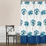 Saturday Knight Blue Medley fabric shower curtain 70x72
