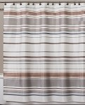 Saturday Knight Colorware Stripe fabric shower curtain 72x72