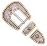 Tandy Leather Elite Ranger Star Buckle Set 1