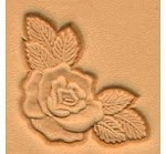 Tandy Leather Rose Corner Craftool 3-D Stamp 8534-00 7/8