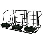 APR3 Airpot Rack. Accommodates 3 airpots and includes drip trays. Black Dimensions: 9  H x 22 W x 13 3/8 D
