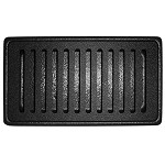 PDT75 Plastic Rectangular Drip Tray w/Removable Grid Black Dimensions: 7 1/2