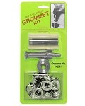"C.S. Osborne No. K231 - Carded Grommet Kit - NICKEL Available in 6 sizes. Card measures 6-7/8"" x 9-3/4"""