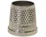 C.S. Osborne No. 510 - Open End Thimbles Nickel plated brass thimbles Nickel plated brass thimbles