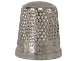 C.S. Osborne No. 511 - Closed End Thimbles Nickel plated brass thimbles Coarse grate